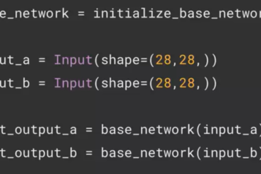 Example code for Siamese Neural Network